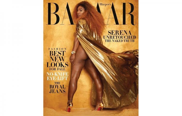 Serena Williams luce sin retoques sus nalgas para la revista 'Harper's Bazaar'