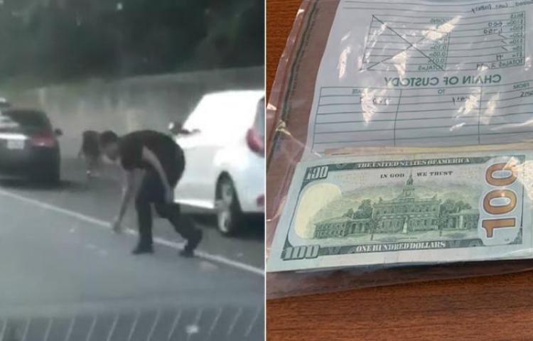 Lluvia de dinero tras accidente en EE.UU
