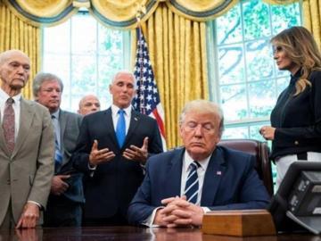 Trump habla de una nueva era de exploración espacial