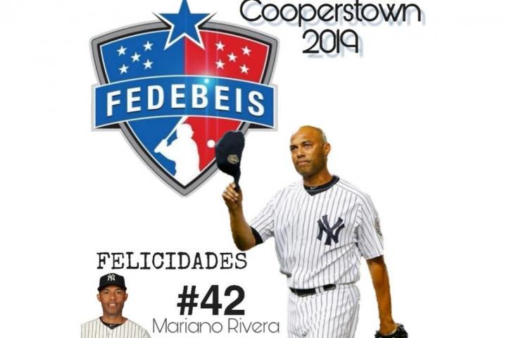 Fedebeis expresa sus felicitaciones a Mariano Rivera