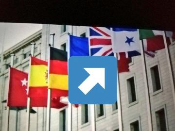 Colocaron la bandera de Panamá al revés en una escena