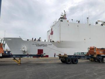 El buque hospital USNS Comfort ya está en Panamá