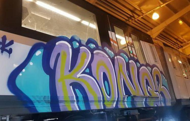 Vandalizan otro vagón de la Línea 1 del Metro de Panamá
