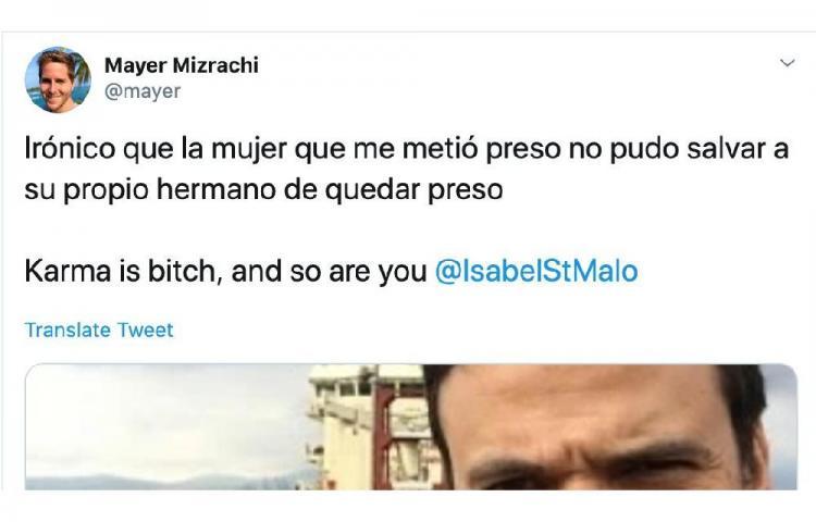 Entre reclamos, Mizrachi pide disculpas a Isabel De Saint Malo