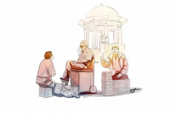 'Sicosis', el lustrador de zapatos y 'Bala', el vendedor de libros