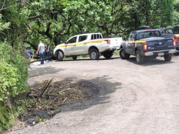 Hallaron otra osamenta humana en un barranco en el sector de Mocambo