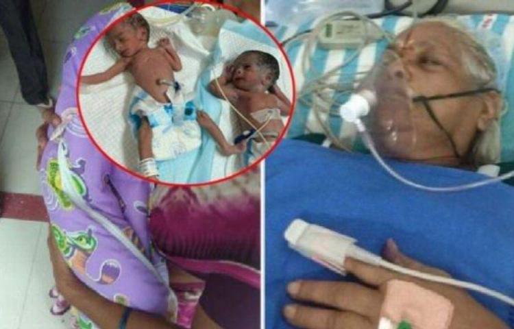 Mujer de 73 años dio a luz a gemelas