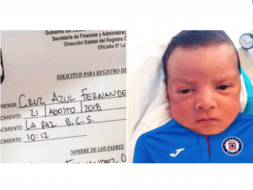 Padres le ponen a su hijo el nombre de un famoso equipo de 'fút' y se hace viral