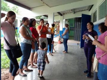 Escuela primaria de Los Santos en el olvido