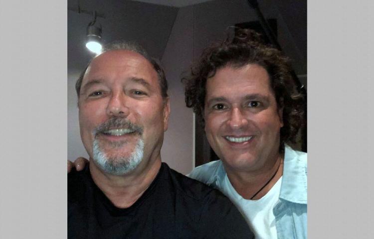 Rubén Blades graba con Carlos Vives