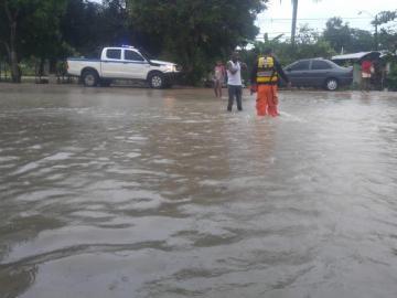 Inundaciones en el interior tras fuertes lluvias