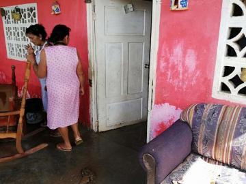 Nueve viviendas afectadas por las fuertes lluvias