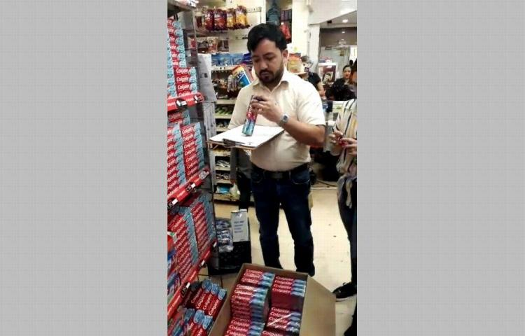Incautan 170 cajas de pasta de dientes falsa