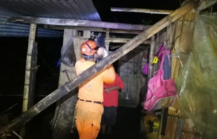 Vendaval azota en Divalá, al menos 36 damnificados