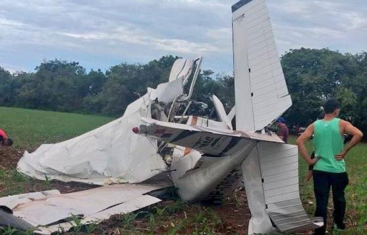 Tres heridos en Guararé tras caerse la avioneta donde viajaban