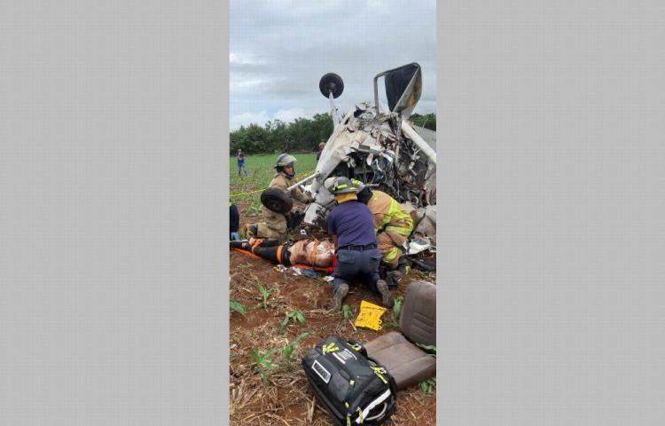 Accidente de avioneta en pista de Guararé dejó dos jóvenes fallecidos