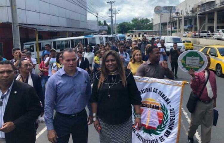 Protestan para exigir un nuevo centro universitario