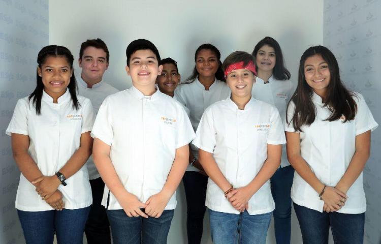 Ocho pequeñines van por el premio en Top Chef Junior