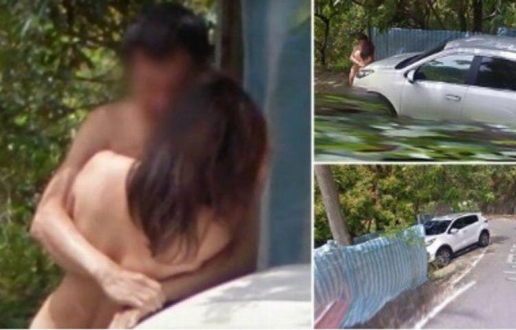 Tenían sexo al aire libre y Google Maps los fotografió