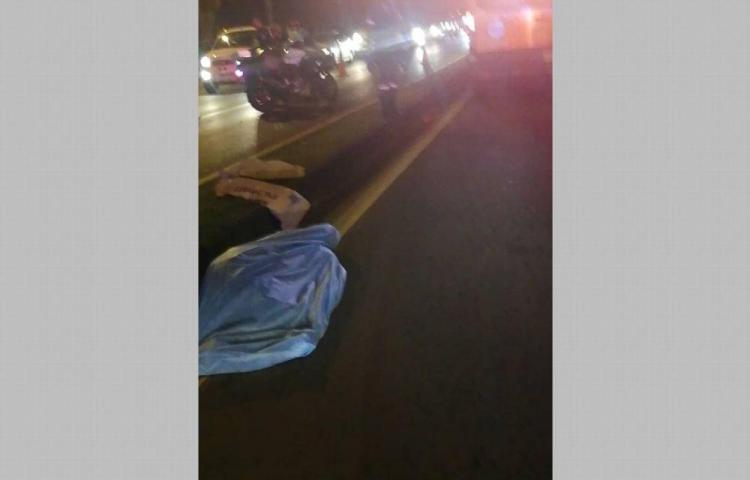 Murió tras ser atropellado y conductor se dio a la fuga