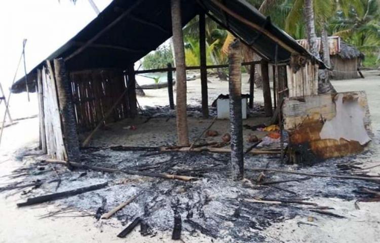 Queman rancho donde encontraron armas de fuego en Guna Yala