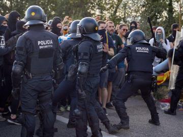 Siguen protestas soberanistas en Cataluña
