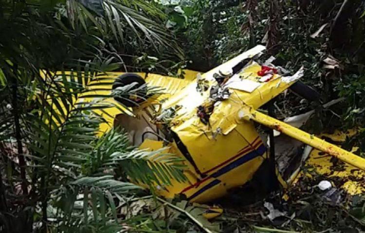 Avioneta cae cerca de un volcán, uno murió y tres están heridos