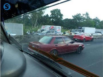 Colisión en la autopista Arraiján -La Chorrera deja varios heridos