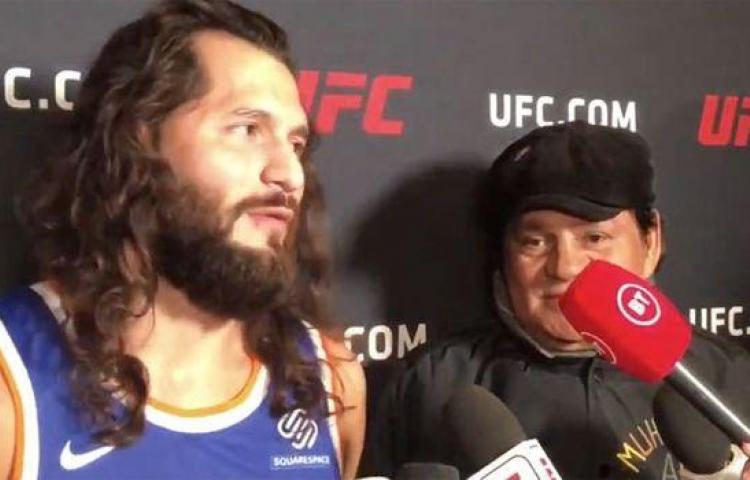 Hasta NY se fue Durán a apoyar al luchador de la UFC,Jorge Masvidal, en su victoria