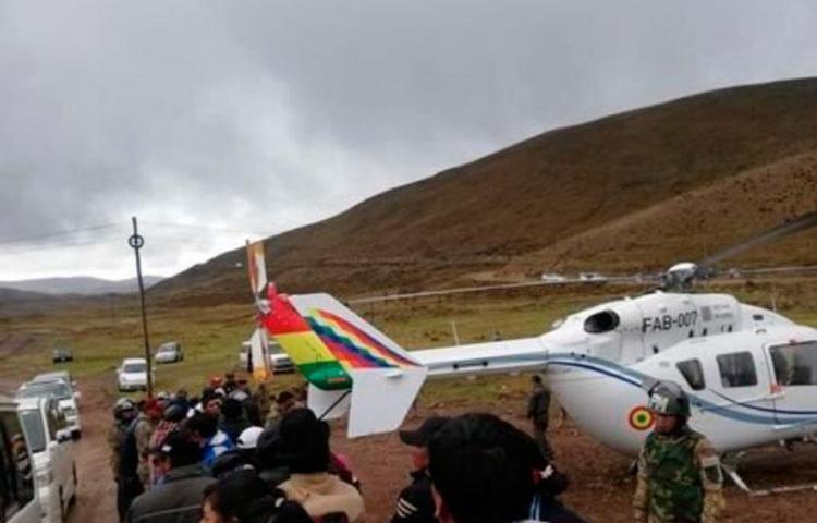 Cae helicóptero con Evo Morales a bordo