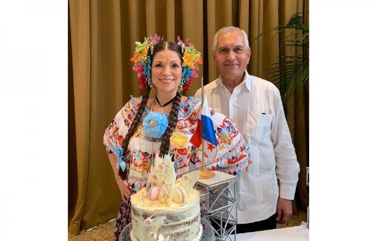 Ana Matilde celebró su cumpleaños a lo típico