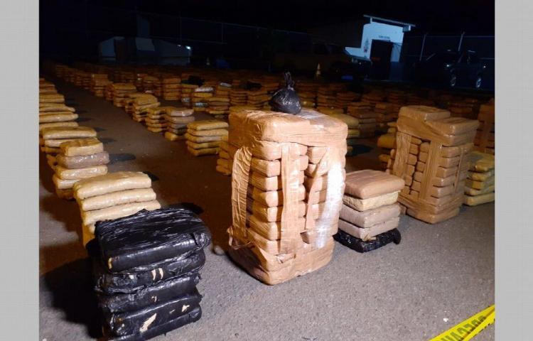 Decomisan 2488 paquetes de drogas en Punta Mala