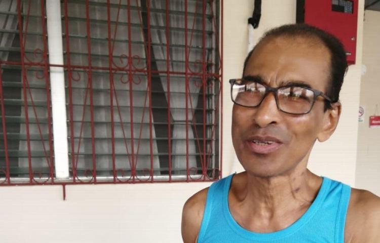 A Juan lo encontraron tirado en la calle y lo llevaron al hospital de la 24 de Diciembre