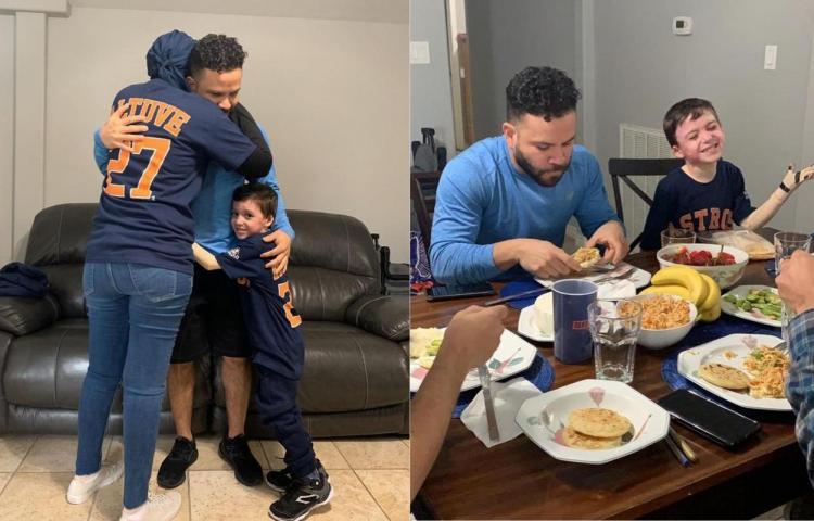 ¡Tremendo gesto! Beisbolista de Los Astros sorprende con visita a 'Minacho'