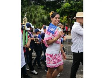 Judoca Kristine Jiménez es la abanderada en el desfile en Veraguas