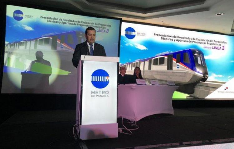 Consorcio coreano favorito para construir la línea 3 del metro de Panamá