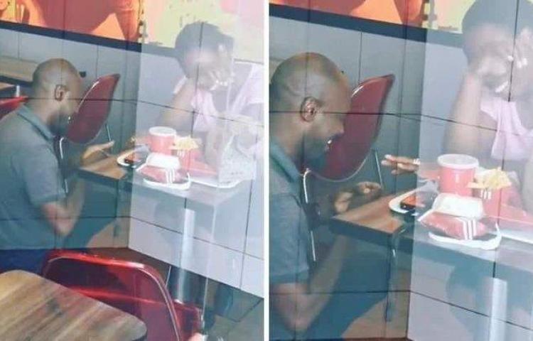 A pareja sudafricana que se comprometió en un restaurante de comida rápida le llueven los padrinos