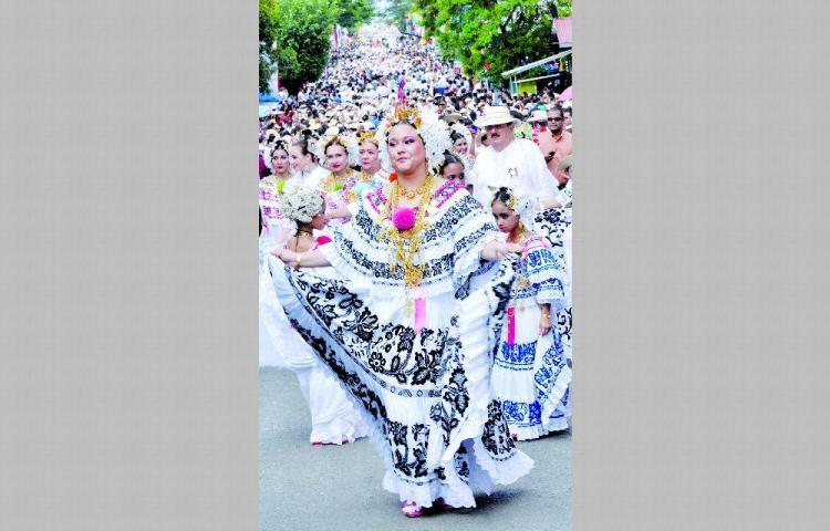 El Desfile de las Mil Polleras se realizará el sábado 11 de enero en Las Tablas