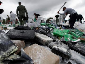 Incineran 24,6 toneladas de drogas incautadas en los últimos dos meses