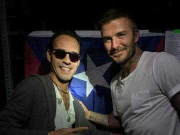Iban a ver a Marc y las sorprendió Beckham