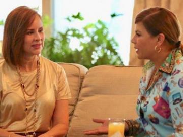Olga Tañón visita a la primera dama