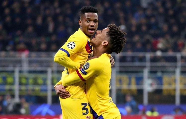 Barcelona, sin Messi, superó al Inter de Milán