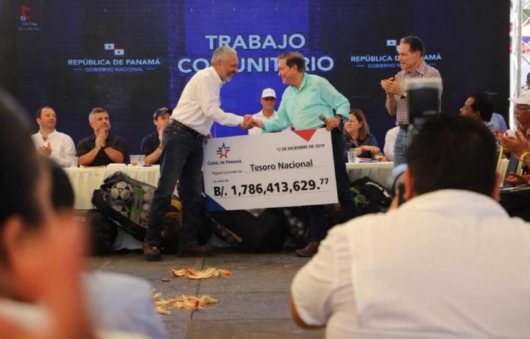 Canal de Panamá aportó $1,786 millones al Tesoro Nacional