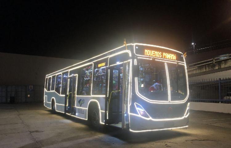 Bus torino navideño brindará el servicio de transporte público