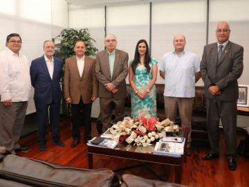 Magistrados del TE se reunieron con el fiscal electoral