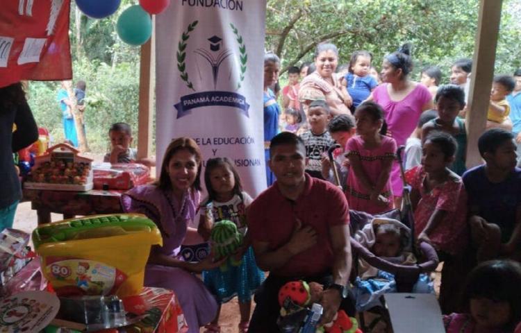 La magia de la Navidad llegó a los niños Ngäbe