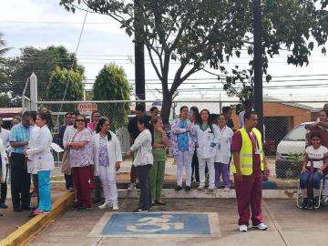 Hacen simulacro de incendio en el hospital de Chitré