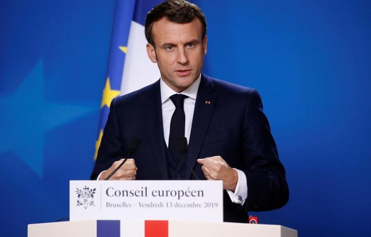 Macron apoya la acción internacional y aboga por reducir la tensión