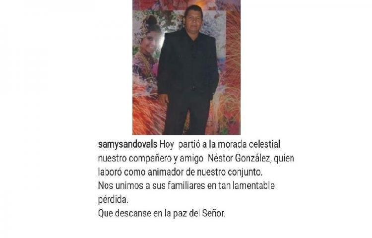 Falleceel animador de los bailes de Samy y Sandra Sandoval