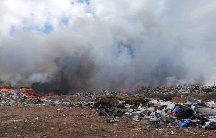 El vertedero de Chitré está ardiendo